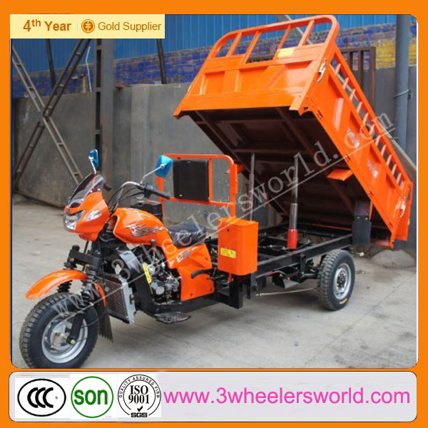 Chongqing Manufactor 250cc Tricycle Petrol Hydraulic Motorcycle Van Cargo Three Wheel Motorcycle for Sale