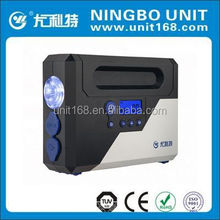 Car digital tire inflator/air compressor with automatic stop