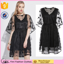 Women clothes Wholesale Princess adult puff sleeve ladies fashion lace dress