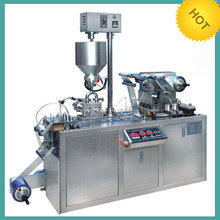 DPP80 Small Mini type Honey Butter Jam chocolate Automatic Blister Packing Machine for Olive oil Cheese