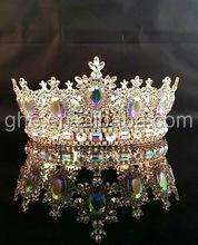 girls princess rhinestone tiaras king light-up crown princess rhinestone tiaras full round crown tiara