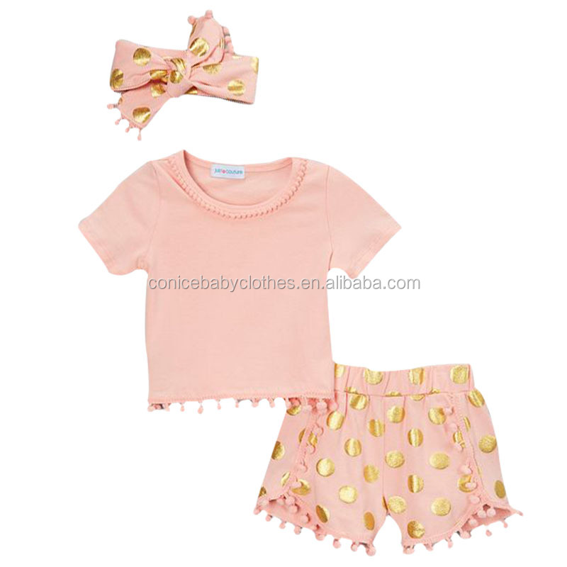 wholesale pink clothing outfit boutique baby clothes european