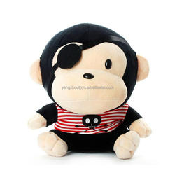 new design plush pirates of the monkey toy in one eye