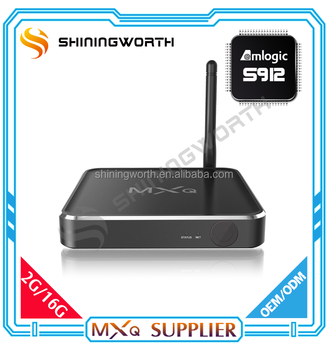 Top selling 2GB/16GB Dual band wifi KODI amlogic s912 ott tv box support DRM