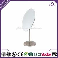 mirror wall clock with low price Ovel Desktop Single Side Vanity Magic Cosmetic Mirror