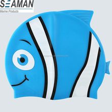 Cute Little Fish Animal Modelling Waterproof Silicone Swimming Cap for kids