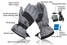 Best Mens Bicycle Motorcycle Electric Battery Powered Heated Gloves 2000mAh