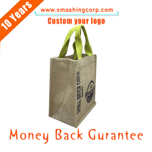 Promotional reusable shopping bag hemp jute bag with beast quality