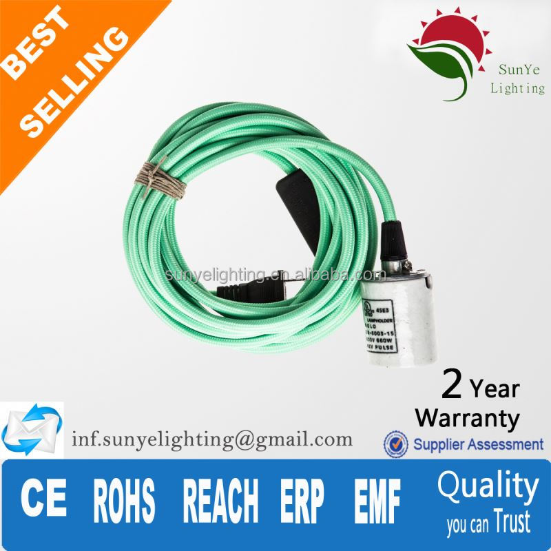 High quality electrical wire with switch and plug 4mm shrouded banana plug