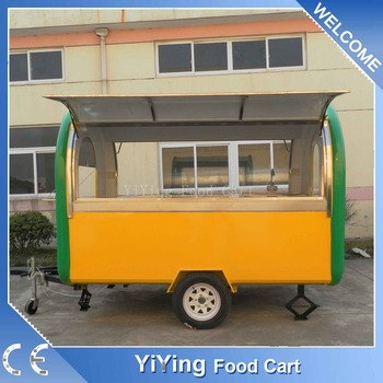 Hot sale new crepe street fast food mobile kitchen trailer