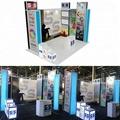 Detian Offer portable lighting exhibition booth design with real photos
