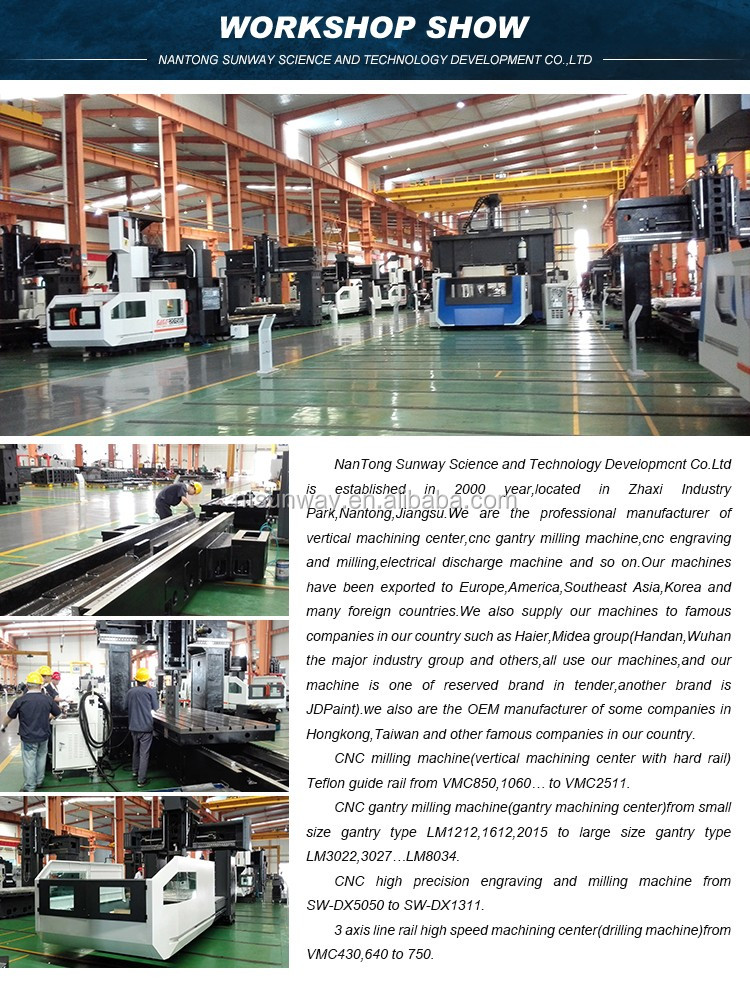 VMC1370 metal mould high speed cnc milling machine