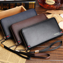 Business Mens Hand Bag Wallet Purse Phone Case And Coin Money Clip Leather Hand Bag Stand