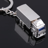 Wholesale 3D truck mold metal key chains/3D Truck keychains on sale