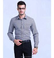 Long sleeve men Business formal shirts camisa masculina mens plaid shirt