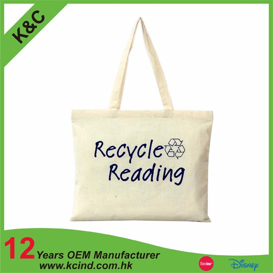 china supply cotton foldable shopping bag