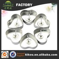 Heart shape aluminum foiltea light candle holder/cup