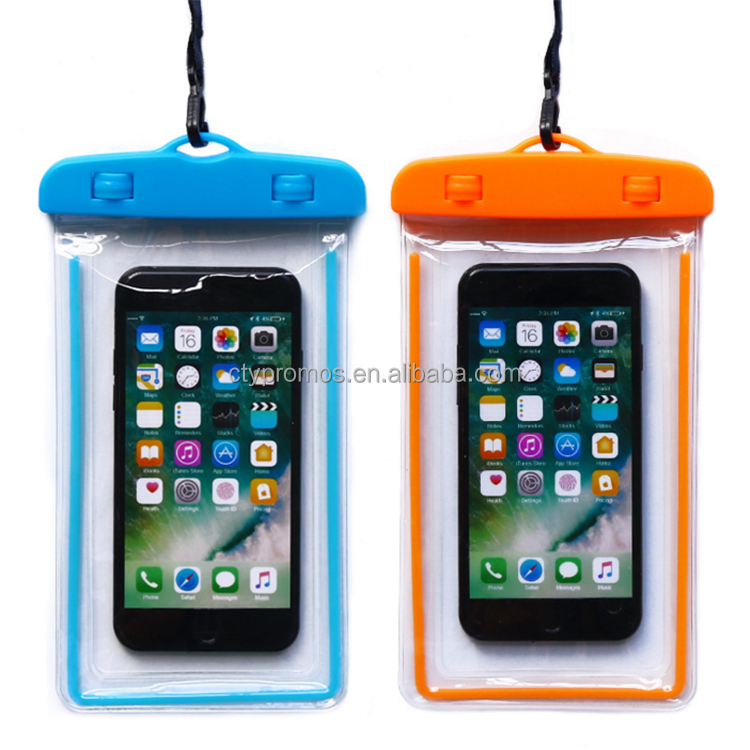 Luminous Waterproof Mobile Phone Bag Pvc Waterproof Cell Phone Case For Phone
