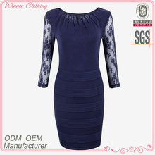 New ladies' fashion half sleeves round neck polyester lace and pleats at neck slim high quality ladies sexy under garments