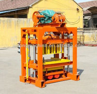 FOR family or small factory to do business! QT4-40 fly ash brick making machine