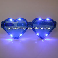 PC 6LED different mode and color heart flash glasses