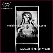 2015 Xyer 3d laser engraved crystal block the Indians woman photo