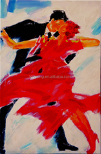 Modern Handmade Sexy Girl is Dancing Flamenco Oil Painting From China Suppier