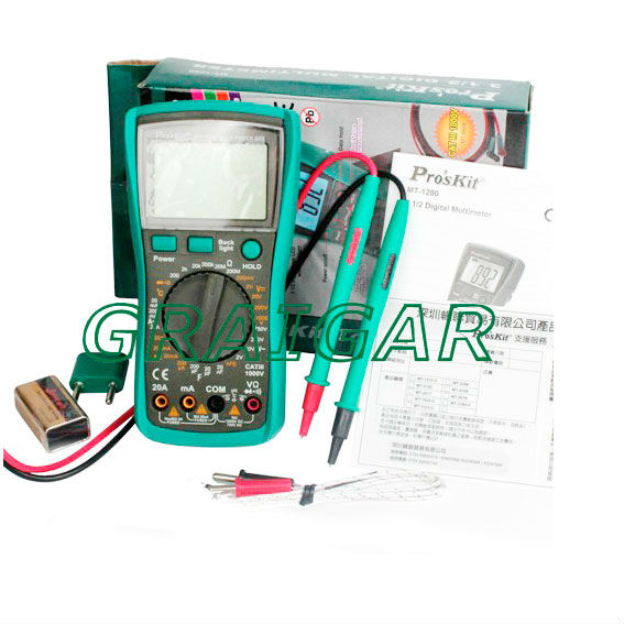 ProSkit MT-1280 High Quality 3 1/2 Digital Multimeter Test Resistance,Capacitance,Temperature