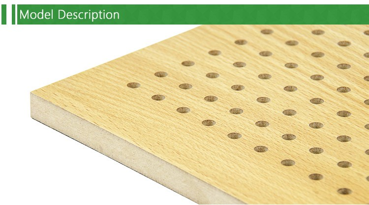 Hot sale perforated wood acoustic panel