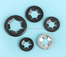 Uncapped wheel retainers star lock washers