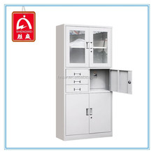 Lockable Metal Cabinet Office Metal Filing Cabinet with Inner Safe Box and Drawers