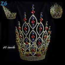 Luxurious Gold Plated kings Crown Royal round Crown pageant crown for men