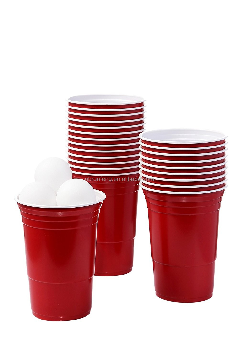Disposable 16oz ps plastic red solo party cups