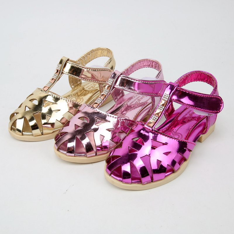 FC8095 new style 2016 children's sandals shining dazzle colour bright girls sandals fashion