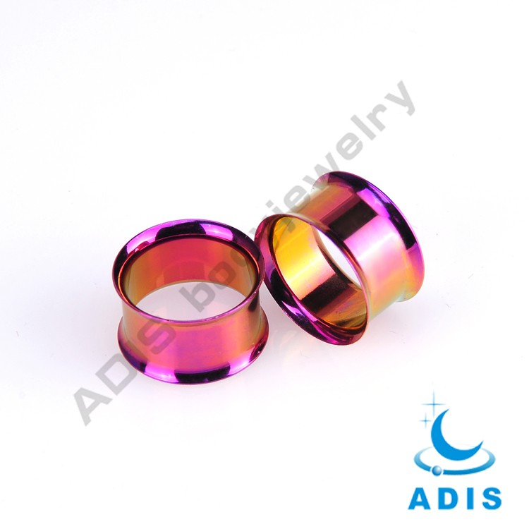 Double flare 316l surgical Stainless Steel Ear piercing Flesh Tunnel