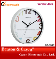 Cason mechanical clock with colorful numbers