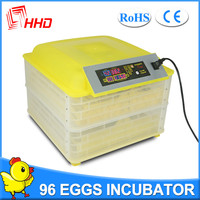 96 egg incubator automatic egg turning with CE approved