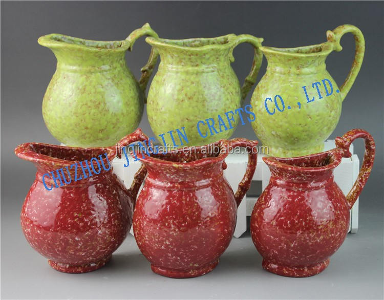 green,red glazed ceramic vase/ceramic,porcelain and stoneware flower vase wester style/vase ceramic pierced creative design