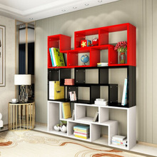 modern cheap price multi-function wood bookcases with DIY combination