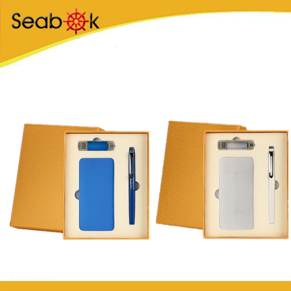 power bank gift set, usb flash drive with pen