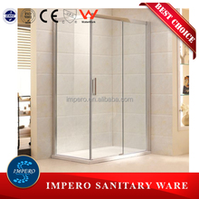 tempered glass adjustable shower screens for Australia and New Zealand standard shower room