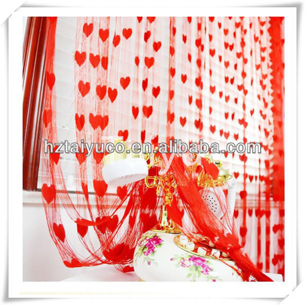 Single color design India heart polyester string curtain for sale