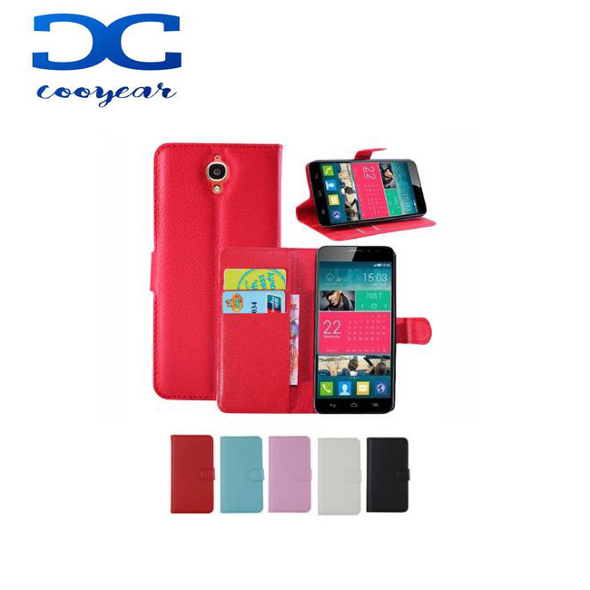 For Alcatel One Touch Idol X/TCL S950 Case 6040A 6040D Litchi Texture Luxury Magnetic Flip PU Leather Wallet Stand Case Cover