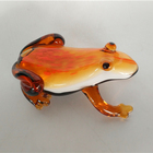 decorative glass frog art glass sculpture ornament