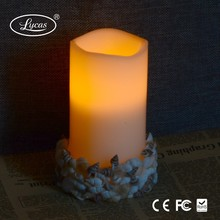 christmas decorative color changing flickering led flame candle