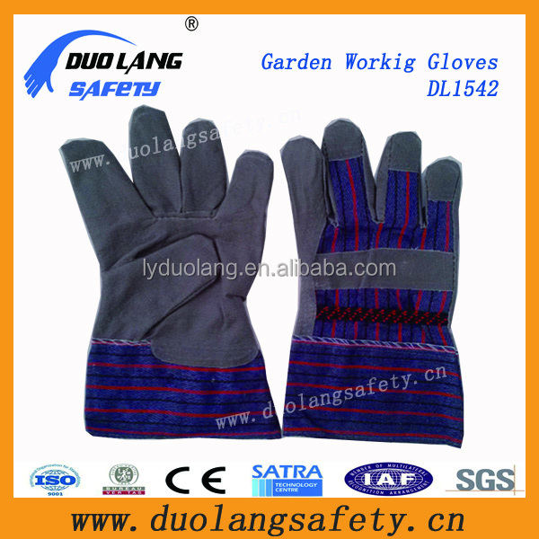 Cowhide Leather Garden Gauntlet Gloves Puncture Resistant Garden Gloves