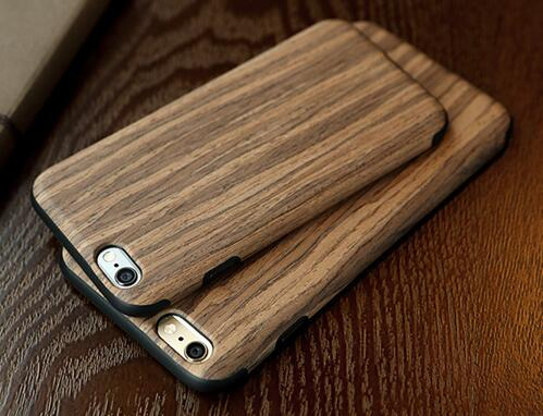Custom design TPU Wood Wooden Carved Engraved laser engraving cell phone case