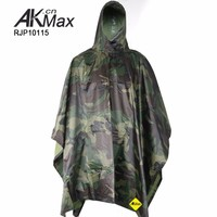 Adult military camouflage PVC raincoat poncho