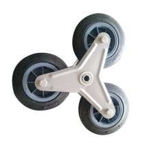 "6"" Solid Wheel used for stair climbing hand trolley"