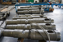 55-110 conical twin screw barrel for PVC pipe / profile